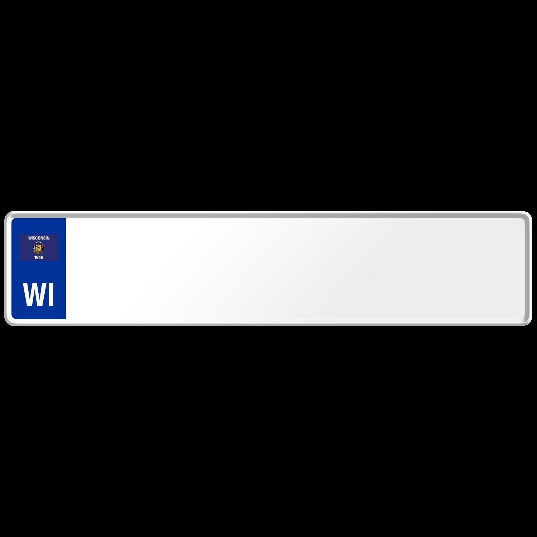 Wisconsin US USA License Plate Number Plate Embossed Custom Border